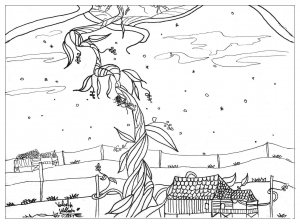 coloring-page-adults-jack-beanstalk free to print