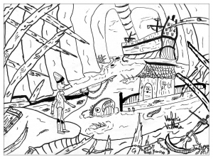 coloring-page-adults-pinocchio free to print