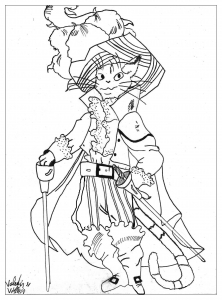 coloring-page-adults-puss-boots free to print