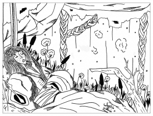coloring-page-adults-slepping-beauty free to print