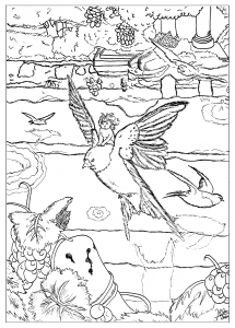 coloring-page-adults-thumbelina free to print