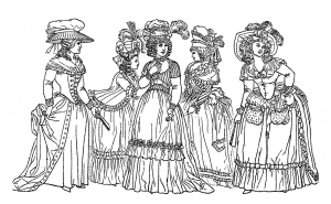 coloriage-adulte-fashion-18th-century-france free to print