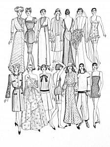 coloriage-adulte-mode-differents-styles-20e-siecle free to print