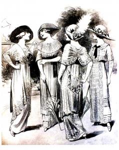 coloring-adult-gravure-mode-1912-femina free to print