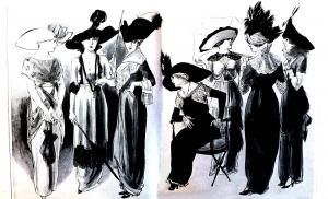 coloring-adult-gravure-mode-1912-gardenparty-femina free to print