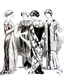 coloring-adult-gravure-mode-1915-femina free to print