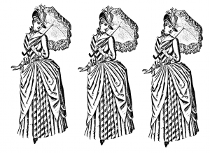 coloring-vintage-fashion free to print