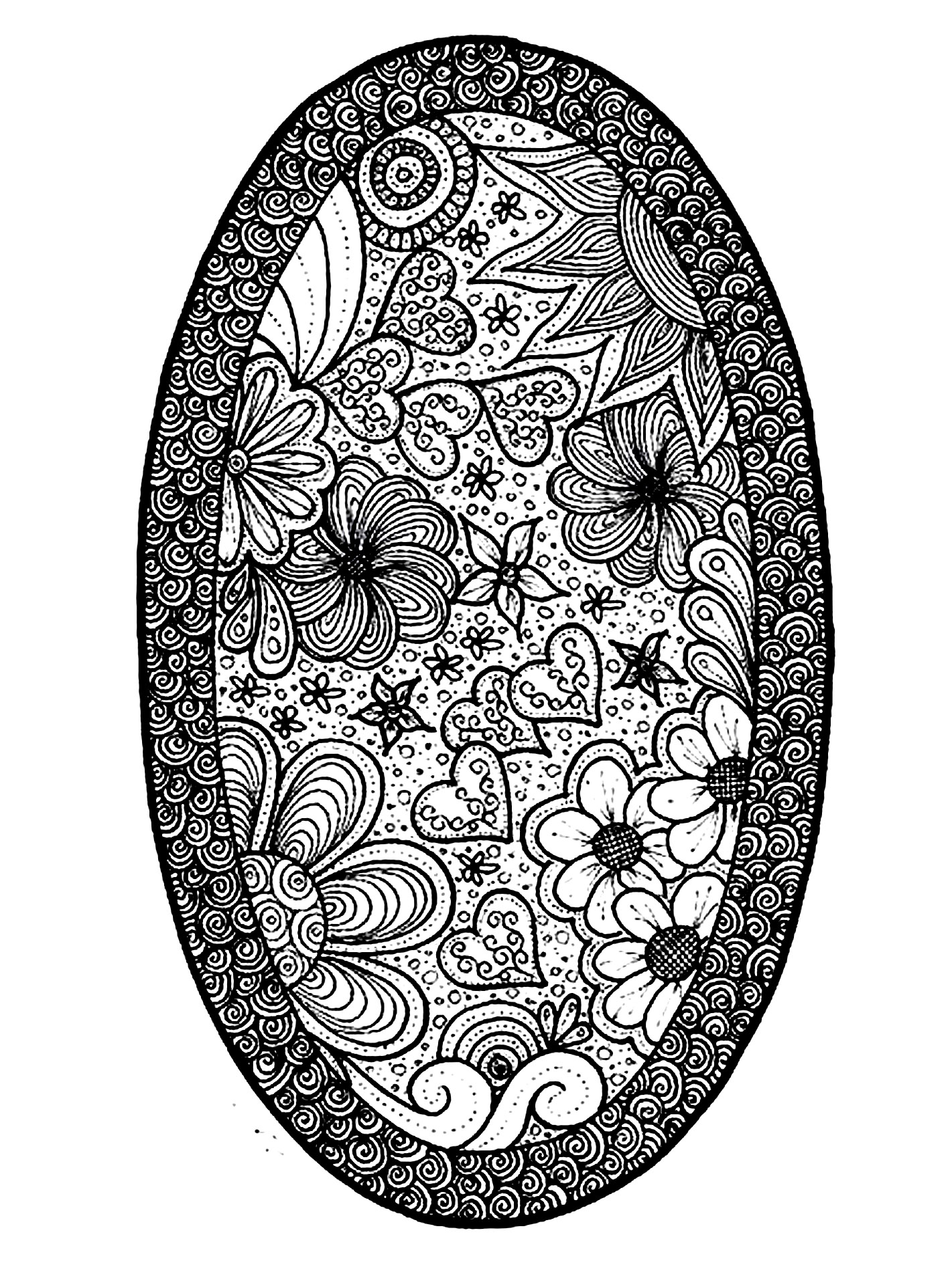 Coloring pages for adults hearts - Flowers And Hearts Coloring Pages Decimamas
