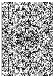 coloring-adult-complex-flower-carpet-by-valeriia-lelanina free to print