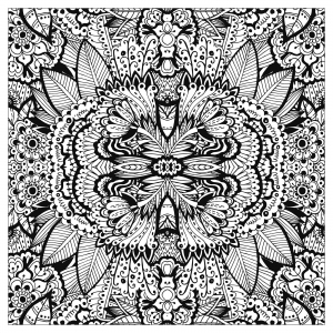 coloring-adult-complex-flower-carpet-squared-by-valeriia-lelanina free to print