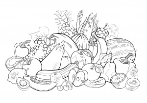 coloring-page-adults-fruits free to print