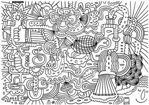 coloring-adult-odd-and-indescribable free to print
