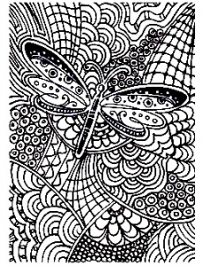 coloring-adult-difficile-papillon-15 free to print
