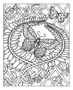 coloring-difficile-papillon free to print