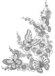 coloring-adult-difficult-butterflies free to print