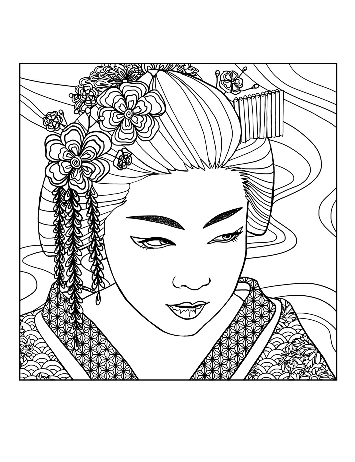 face coloring pages adults - photo#25