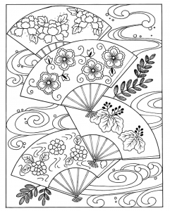 coloring-japanese-hand-fan free to print