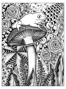 coloring-frog-jungle free to print