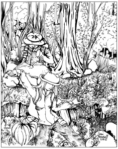 coloring-lost-in-forest free to print