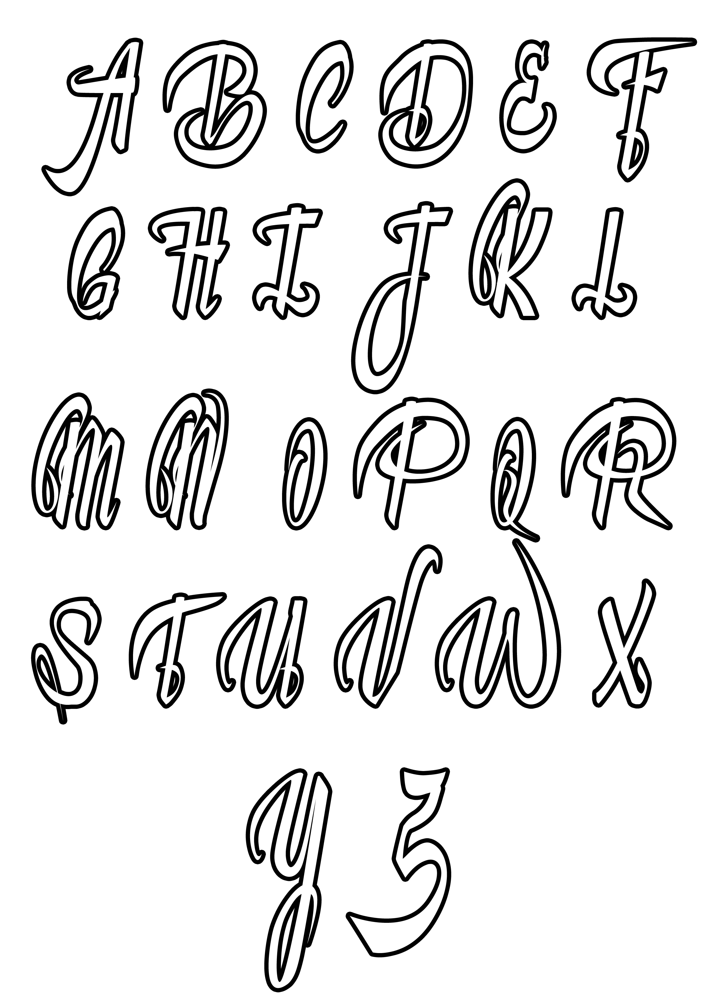simple alphabet coloring pages | Alphabet Coloring pages for kids to print & color ...