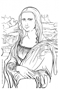 terrific mona lisa coloring page rainforest coloring pages for kids printable