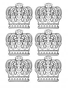 coloring-6-royal-crowns free to print