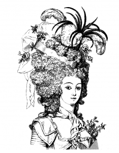 coloring-adult-hairdressing-style-marie-antoinette-livre-1880 free to print