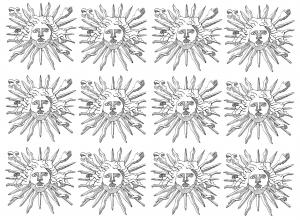 coloring-symbols-louis-14-sun-king free to print