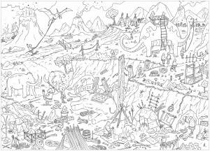 Landscapes coloring pages for adults Landscape coloring books for adults