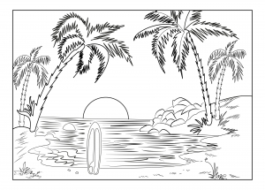 coloring-page-adults-landscape-celine free to print