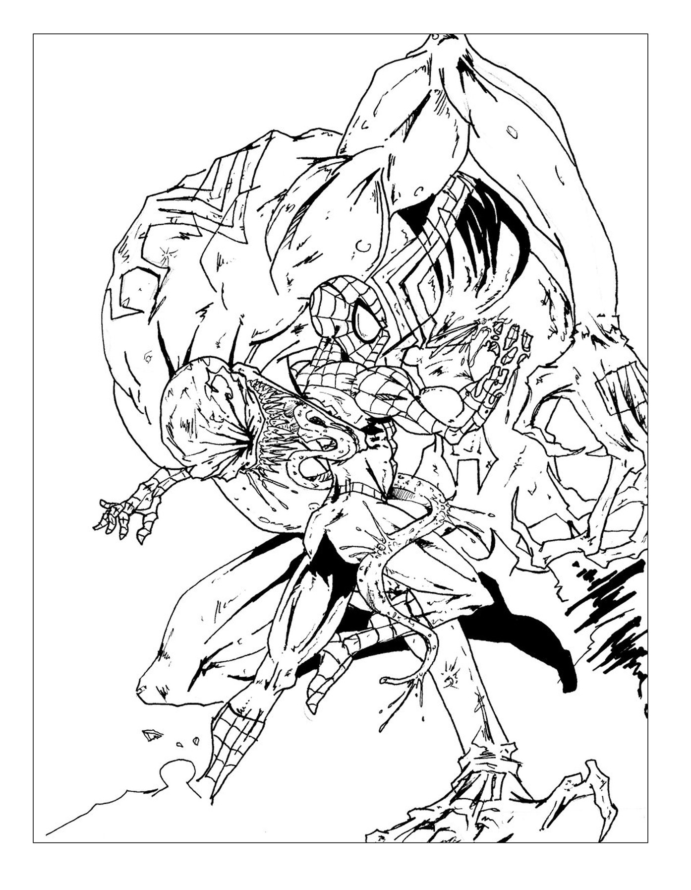 Venom Coloring Pages Spiderman Learn Colors For Kids And
