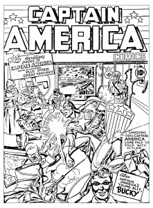 coloring-adult-captain-america-vs-hitler free to print