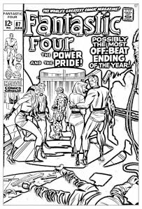coloring-adult-comics-fantastic-four-1969 free to print