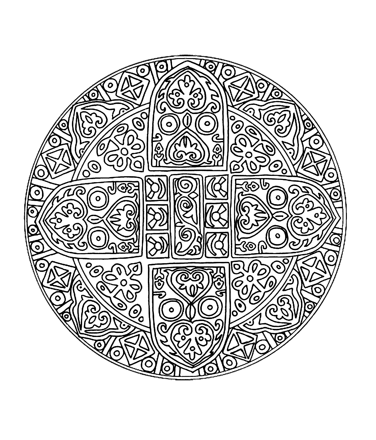 mandalas coloring pages for adults coloringfree