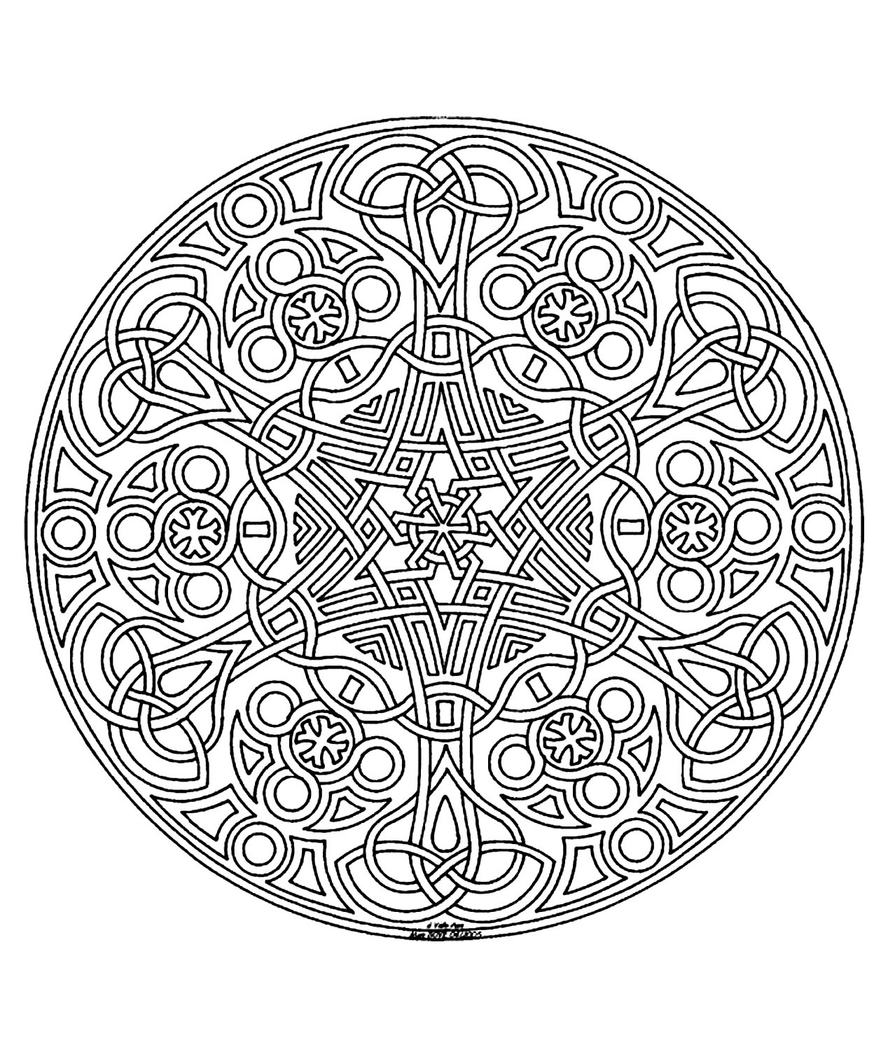 mandalas coloring pages for adults coloring free mandala difficult adult to print 14. Black Bedroom Furniture Sets. Home Design Ideas