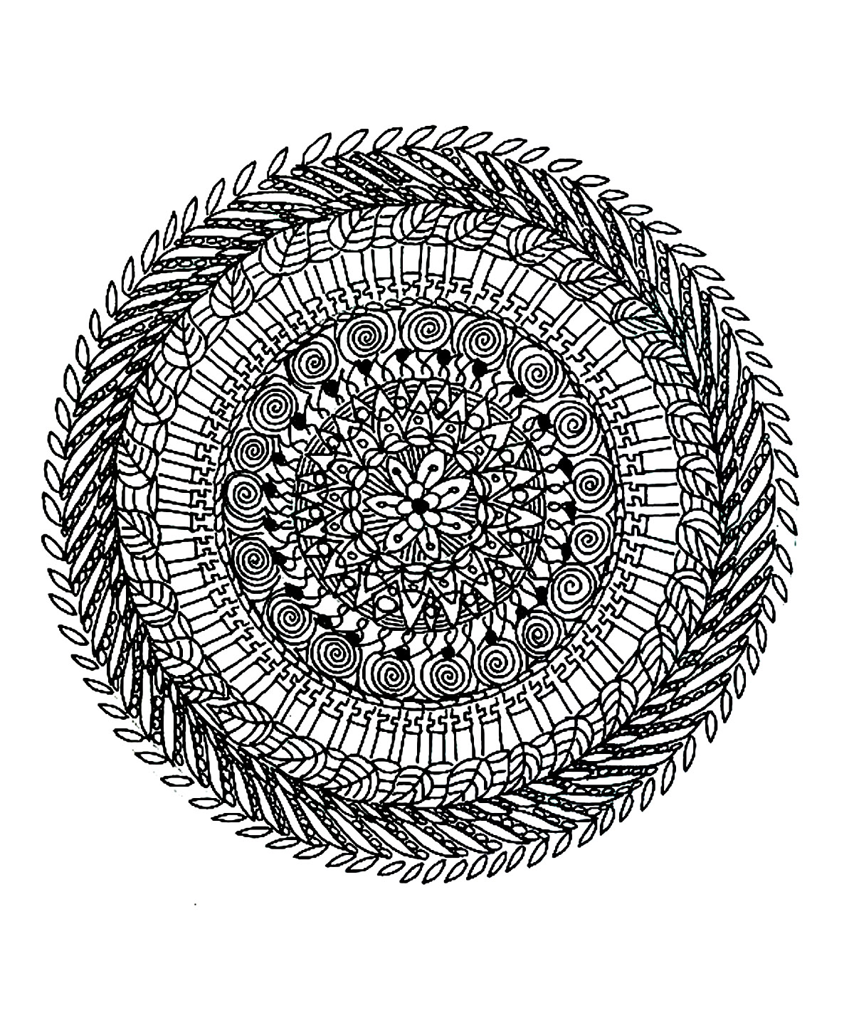 Hard mandala coloring pages for adults - Mandalas Coloring Pages For Adults Coloring Free Mandala Difficult