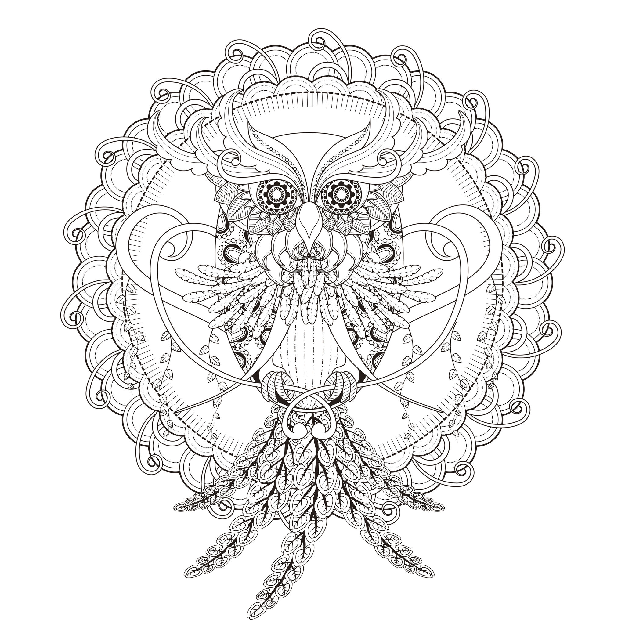 INCREDIBLE Owl Mandala coloring pageFrom the gallery : MandalasArtist : Kchung, Source :  123rf