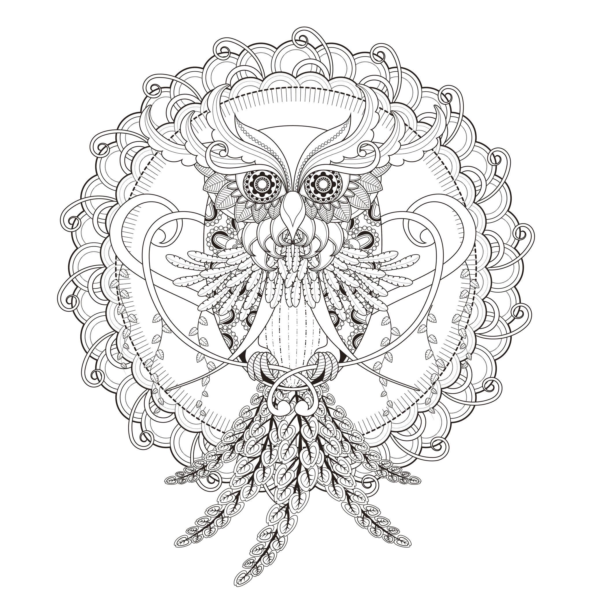 INCREDIBLE Owl Mandala coloring pageFrom the gallery : MandalasArtist : Kchung, Source :  123rf