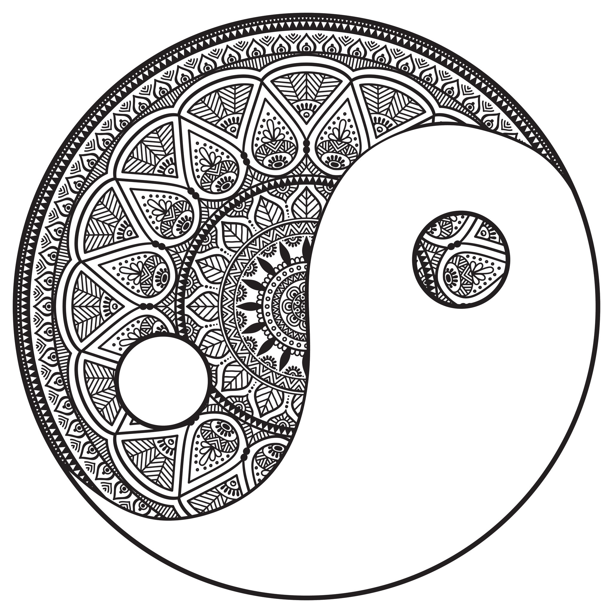 Mandalas Coloring Pages For Adults Coloring Page Coloring Pages Yin Yang
