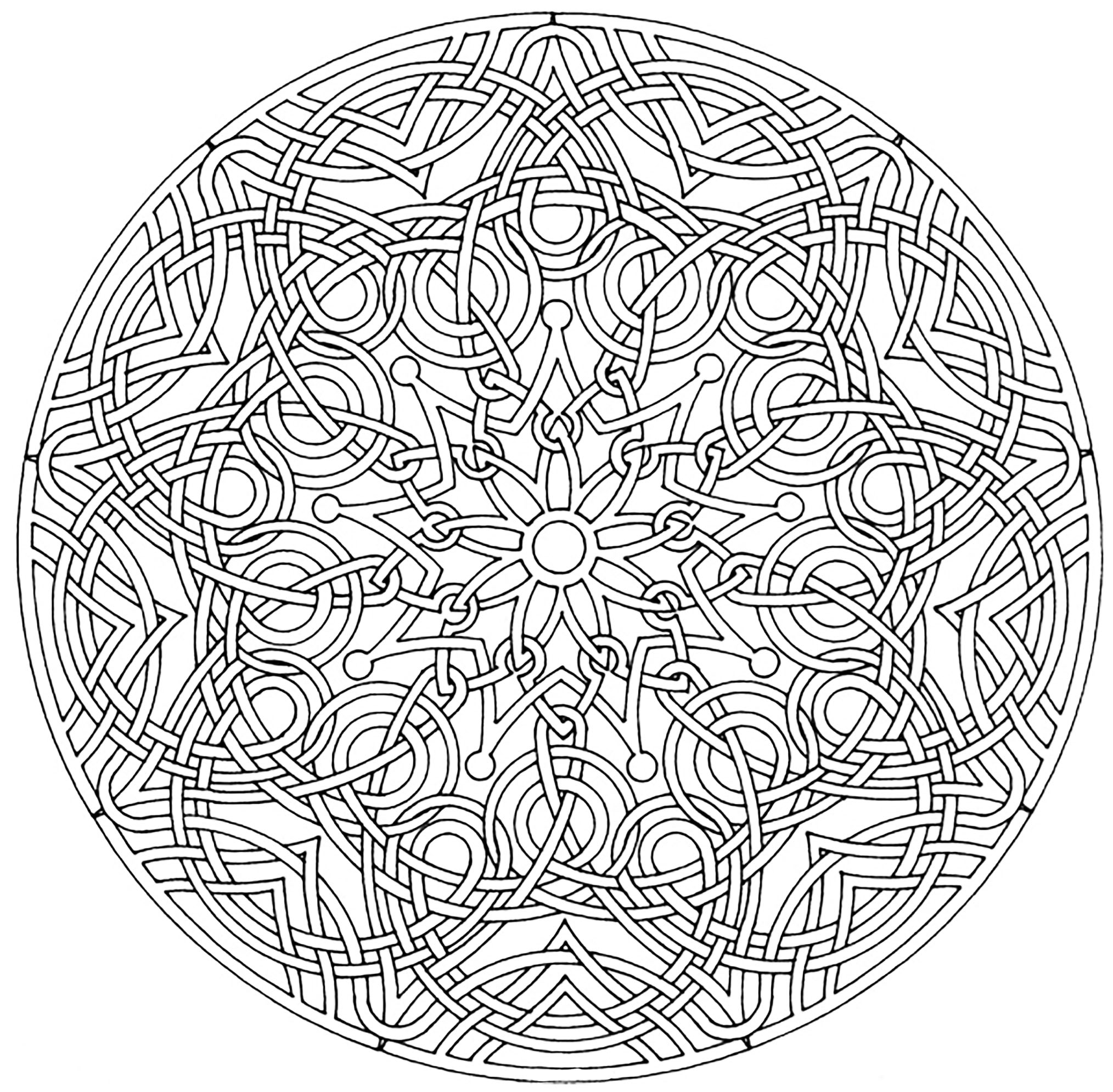 Mandalas coloring pages for adults coloring page for Mandala coloring pages printable free
