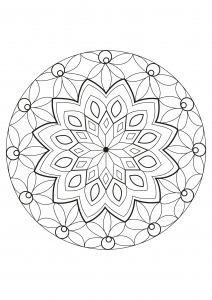Coloring-page-adults-mandala-Celine free to print