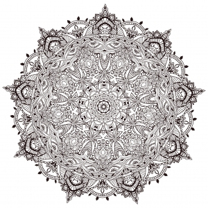 coloring-page-Very-detailled-mandala-by-Anvino free to print
