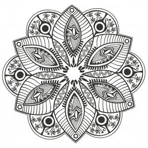 coloring-page-mandala-Original-Flower-by-markovka free to print