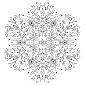 coloring-page-mandala-Smooth-Flowers-and-vegetal-patterns-to-color-by-Epic22 free to print