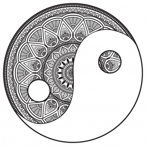 coloring-page-mandala-Yin-and-Yang-to-color-by-Snezh free to print