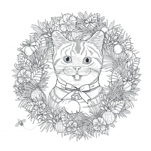 coloring-page-mandala-cat-by-kchung free to print