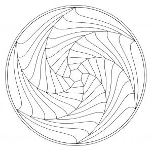 coloring-page-mandala-optical-illusion free to print