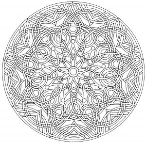 coloring-page-mandala-royal free to print