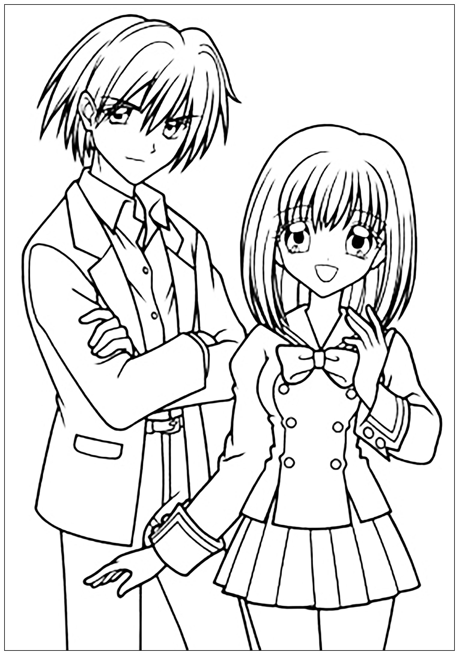 Manga Anime Coloring Pages For Adults Coloring Manga