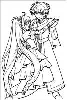 coloring-manga-danse-in-costume- free to print